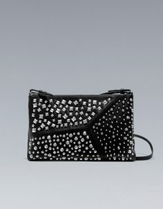 MULTI-STUD MESSENGER BAG - Handbags - TRF - ZARA United States