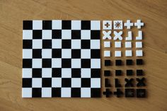 """Design by Alessia. """"The core idea is pretty straightforward: what lasts is what we do and not what we are. That's why I abandoned the common shapes of the king, queen, rooks, bishops, knights and pawns and replaced them with their moves."""""""