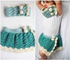 #shop.kingsoleil.com      #Skirt                    #Crochet #Snow #Bunny #Skirt #Cowl                  Crochet Snow Bunny Skirt and Cowl Set                                         http://www.seapai.com/product.aspx?PID=500854