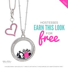 Origami Owl. Hostesses! Look what you can earn in March just for hosting a Jewelry Bar! Schedule yours: www.CharmingLocketsByAline.OrigamiOwl.com