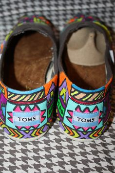 Handpainted Tribal Toms