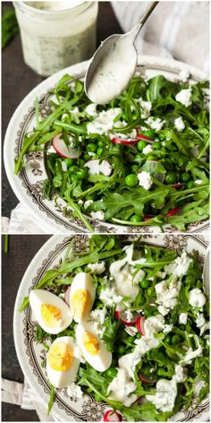 A gorgeous and filling spring salad plus a creamy dill dressing you will make over and  over again!