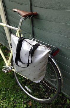 Waterproof Bicycle pannier bag & shoulder tote  Stars oil