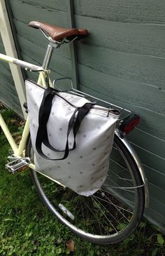 A pannier that doesnt look like a pannier! Stylish waterproof oil cloth tote…
