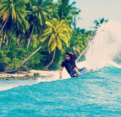 """Travel is the only thing you buy that makes you richer "" Surfer Craig Anderson rail riding"