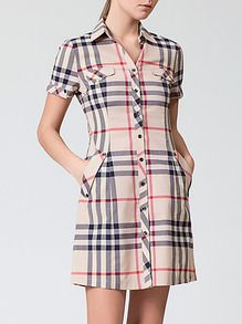 SheIn offers Beige Lapel Short Sleeve Check Print Pockets Dress & more to fit your fashionable needs. Simple Dresses, Cute Dresses, Casual Dresses, Short Dresses, Fashion Dresses, Dresses For Work, Kurta Designs Women, Blouse Designs, Clothes For Women