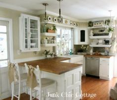 white country kitchen with butcher block. Cool 44 Clean And Simple Rustic Kitchen Decoration Ideas. More At Http://88homedecor.com/2017/12/20/44-clean-simple-rustic-kitchen -decoration-ideas\u2026 White Country With Butcher Block