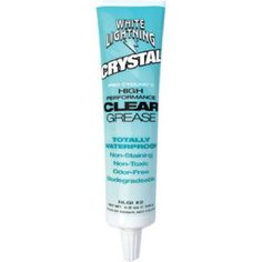 White Lightning Crystal Grease 100g Tube It is ideal for use on all bike parts including headsets, pedals, suspension bearings and carbon componentry. Crystals formulation is odour-free, non-toxic, non-staining, biodegradable and has unequal http://www.MightGet.com/january-2017-11/white-lightning-crystal-grease-100g-tube.asp