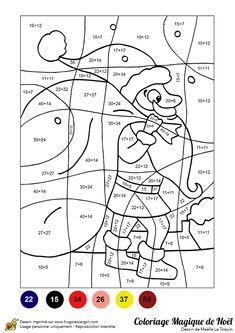 coloriage magique soustractions à 2 et 3 chiffres