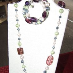 Chain-linked glass pearls from D & D Creations for $30 on Square Market
