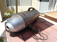 vintage Kenmore vacuum cleaner before transformation into up cycled lighting