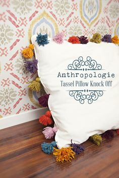 Anthropologie Tassel Pillow Knock Off Tutorial