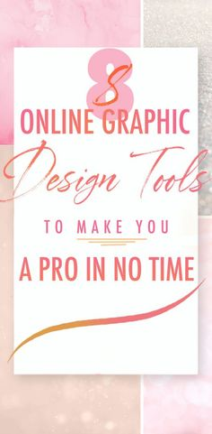 8 online graphic design tools - Pinterest Image.