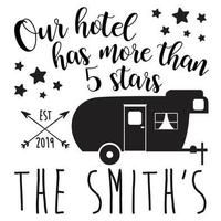 Camping Our hotel has 5 stars Vinyl Decal Your choice of color Free Sh – Colorflossdecals camperlife Suv Camping, Caddy Camping, Camping Checklist, Camping Organization, Camping Packing, Camping Outfits, Camping Essentials, Trailer Organization, Camping Fashion