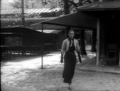 """Maria Casares as """"Death"""" in Jean Cocteau's """"Orphée""""...fascinating character, and enviable wardrobe :)"""