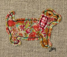 Barking - framed freestyle machine embroidery £12.00