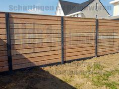 Wood Fence Design, Backyard, Patio, Garden Fencing, Exterior Design, My House, Building A House, New Homes, Landscape
