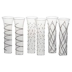 Whether you're raising a toast at midnight or serving up signature cocktails at a bridal shower, this patterned champagne flute brings fashionable flair to e...