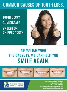 Prevent the causes of at Hanford Family Dental Center Dental Group, Dental Center, Dental Wallpaper, Dental Posters, Dental Office Design, Family Dentistry, Dental Services, Dental Implants, Dental Health