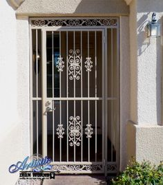 Custom Wrought Iron Entryway with Castings