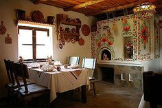 notice the opening for the wood burning oven (pich).