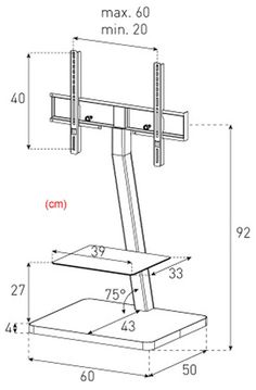 TV Stand for Floor, Fits 32\