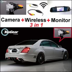 (73.27$)  Watch more here - http://ailie.worlditems.win/all/product.php?id=32463033977 - 3in1 Special WiFi Camera + Wireless Receiver + Mirror Monitor Easy Parking System For Mercedes Benz S Class MB W221 SL W231 R231