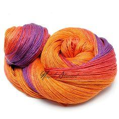 Gradient Mulberry  Silk Yarn  138 gr