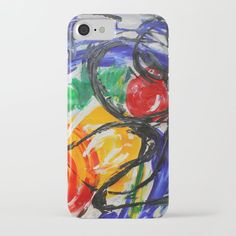Space Travel Abstract Painting iPhone & iPod Case