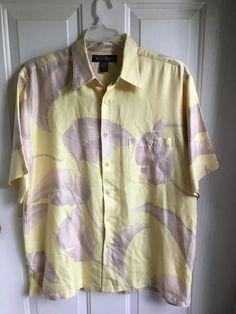 74f7f765 Men's Silk Blend Shirt Large Hawaiian Camp Tori Richard Honolulu  #ToriRichard #Hawaiian