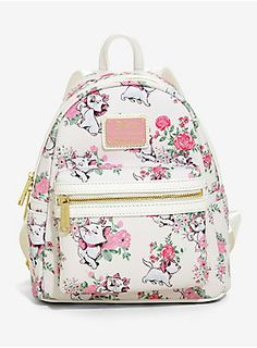 Loungefly Disney The Aristocats Marie Floral Mini Backpack   Hot Topic