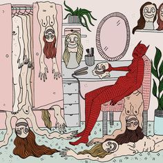 | POLLY NOR | Art by London based illustrator Polly Nor | Devils and women