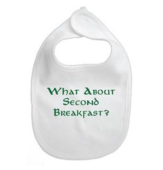 """Baby Bib- """"What About Second Breakfast"""" Lord of the Rings"""