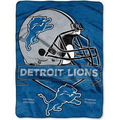 NFL Detroit Lions Prestige 60 inch x 80 inch Raschel Throw, Multicolor