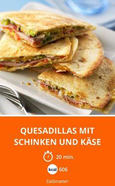 Quesadillas mit Schinken und Käse - smarter - Kalorien: 606 kcal - Zeit: 20 Min. | eatsmarter.de