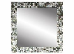 Mother-of-pearl inlay black/white/gray mirror