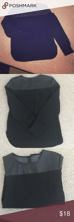 Women's blouse Deep black, never worn, fits a S/M. Long sleeve black top Tops Blouses