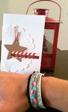 Un bracelet manchette de fête et une jolie carte qui ira sous le sapin. J'adore cette box!!!!!
