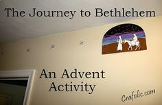 Advent Count Down and Art Activity | Catholic Inspired ~Arts, crafts, games, and more! Advent activity idea for Sunday school.