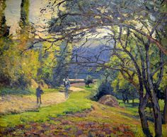 Camille Pissarro - Landscape through trees, Pontoise, 1875 at the Legion of Honor (Fine Arts Museums of San Francisco CA)