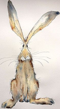 Items similar to Tabitha - Large Original Watercolour and Ink hare painting, hare watercolour, hare original on Etsy drawings aquarell Items similar to Tabitha - Large Original Watercolour and Ink hare painting, hare watercolour, hare original on Etsy Watercolor Animals, Watercolor And Ink, Watercolour Drawings, Watercolours, Bunny Art, Bunny Bunny, Rabbit Art, Whimsical Art, Animal Paintings