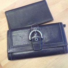 I just discovered this while shopping on Poshmark: 100% authentic Coach check wallet!. Check it out!  Size: OS