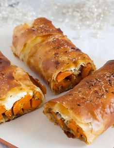 Roasted spiced carrot and Feta Strudel Looking for a vegetarian dish for a special occasion? This Roasted Spiced Carrot and Feta Strudel by Recipes Made Easy will not disappoint. Vegetarian Main Dishes, Veggie Dishes, Vegetable Recipes, Vegetarian Recipes, Cooking Recipes, Healthy Recipes, Vegetarian Xmas, Amish Recipes, Carrot Recipes