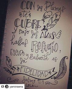 #Repost @yaminserra ・・・ Día #9 - Salmo 91:4 - ❤ -  #LetteringBíblicoSeptiembre #ConfiandoEnSusPromesas #yopintomibiblia #letteringconpropósito #handlettering #typography #handletter #lettering #LetteringBeginner #handmade #watercolour #caligritype #journaling #BibleJournaling #brushlettering #biblejournalingenespañol