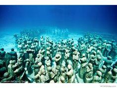 Underwater Museum: Cancun, Mexico