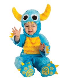 Look at this Turquoise & Yellow Mr. Monster Dress-Up Outfit - Infant on #zulily today!