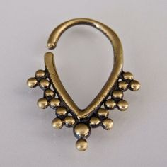 Hey, I found this really awesome Etsy listing at https://www.etsy.com/listing/192509326/oxidized-brass-septum-for-pierced-nose
