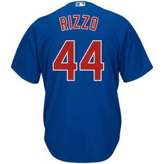 92a8dd1f0 Chicago Cubs Mens Cool Base Anthony Rizzo Replica Alternate Blue Jersey