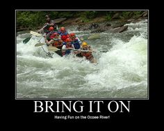 I LOVE to to go white water rafting! And the Ocoee River is my favorite! The Ocoee River was actually used during the 1996 Atlanta Olympics for the canoeing and kayaking events. Ocoee River, Vacation Places, Vacations, Kayaking, Canoeing, Wild Waters, Whitewater Rafting, Adventure Is Out There, Outdoor Camping