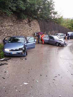 notizie lucane, basilicata news: Scontro frontale sulla Ginestra Barile causa piogg...